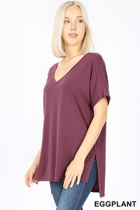 Brittney Buttery Soft Top in Eggplant