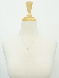 "Initial ""S"" Necklace - 18k Gold Dipped"