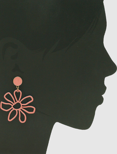 The Dale Mae Pink Floral Earrings