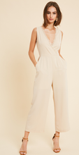 Julianne Open Tie Bsck Jumpsuit in Neutral