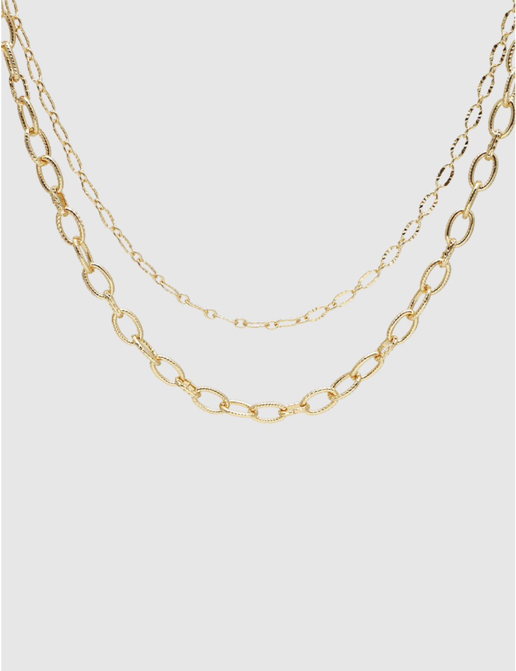 The Emily Gold Chain Chocker Necklace