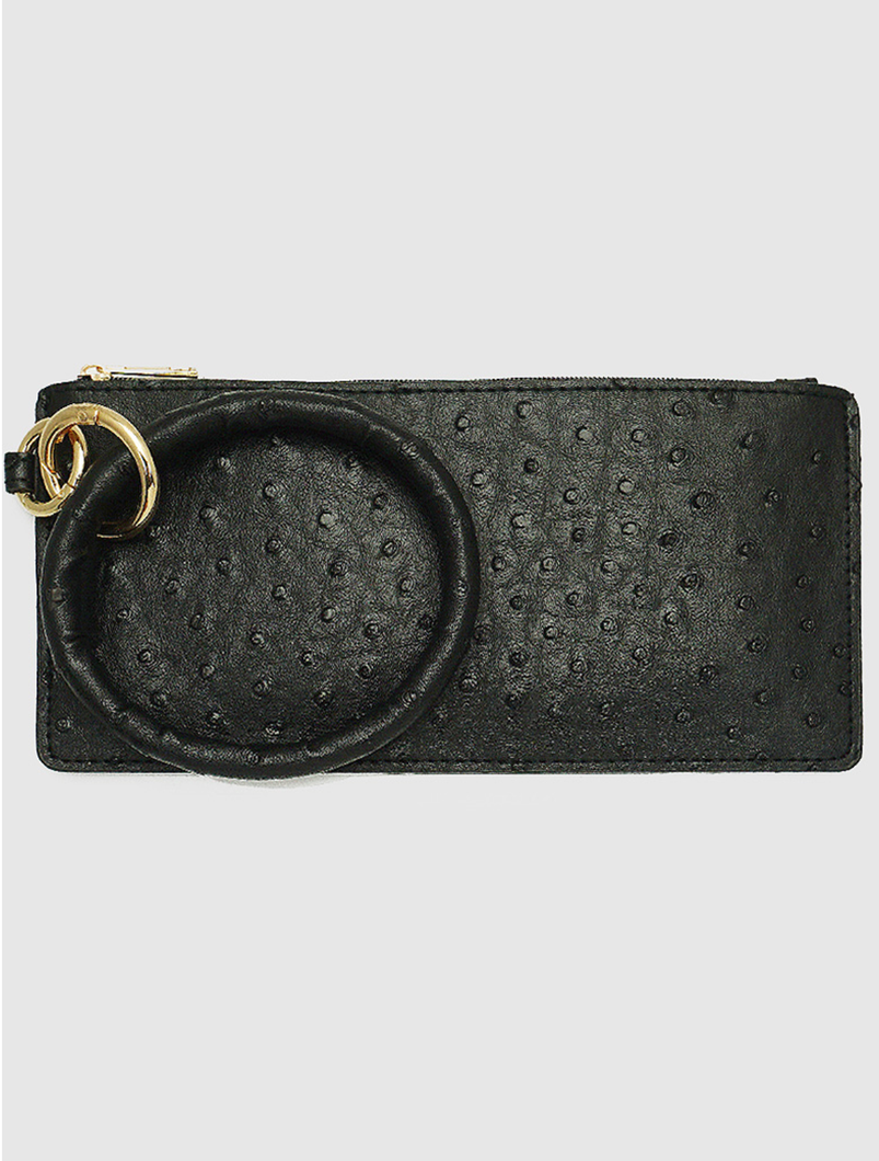 Faux Leather Wallet Keychain