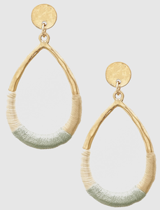 Hammered Metal Gold Earrings