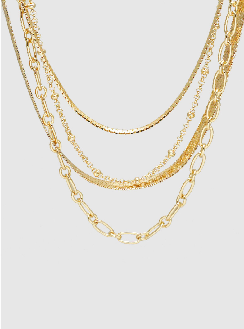 Lily Layered Gold Necklace