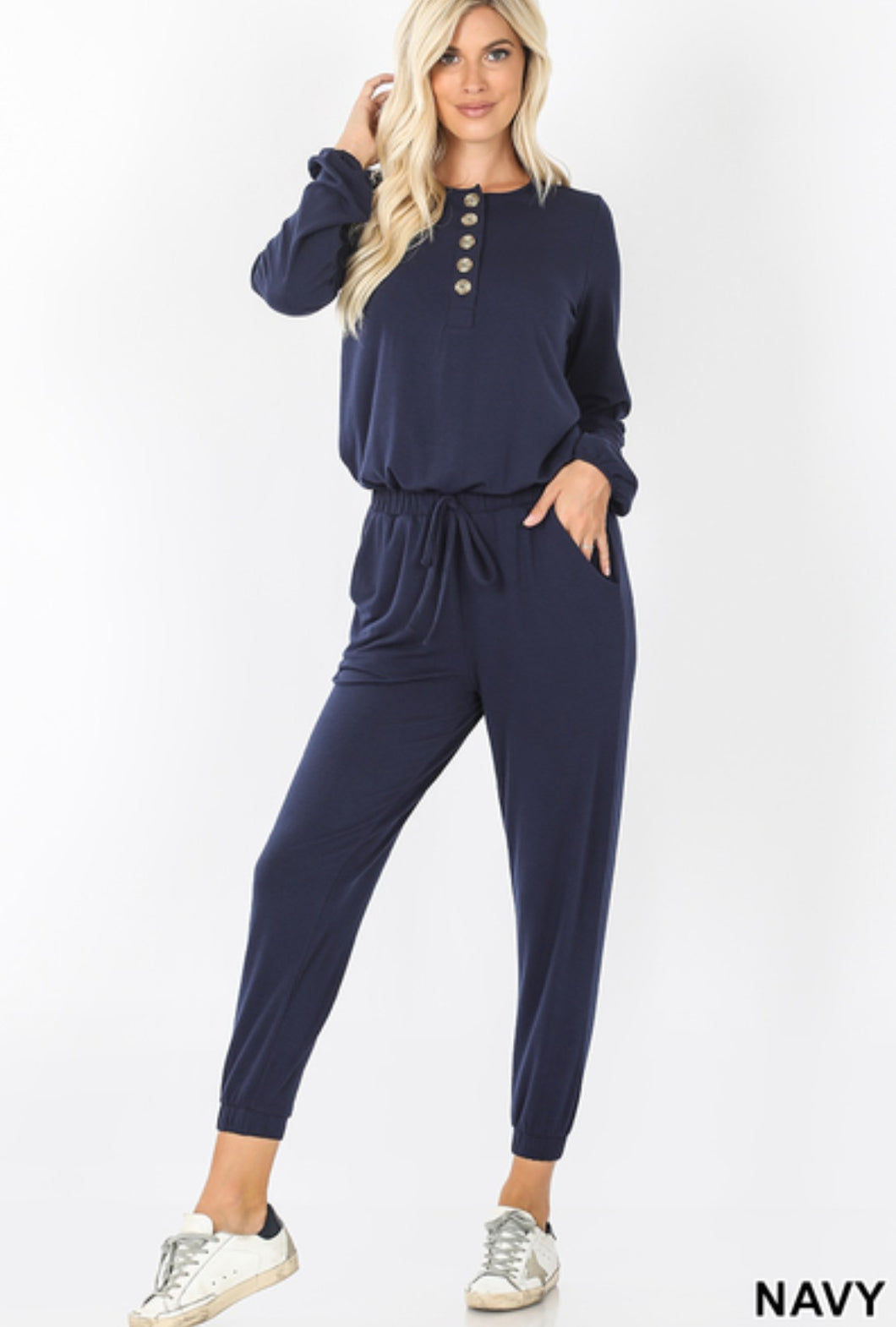 Jenni Jogger Jumpsuit in Navy