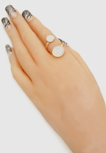 Glitter Stone Adjustanle Ring