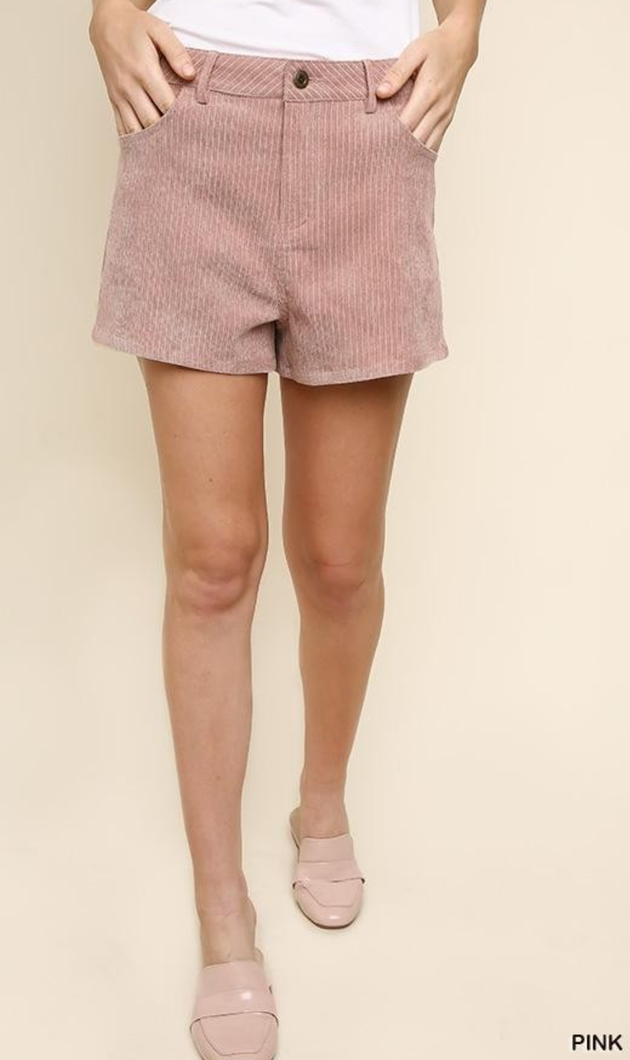Jess Corduroy High-Waisted in Blush