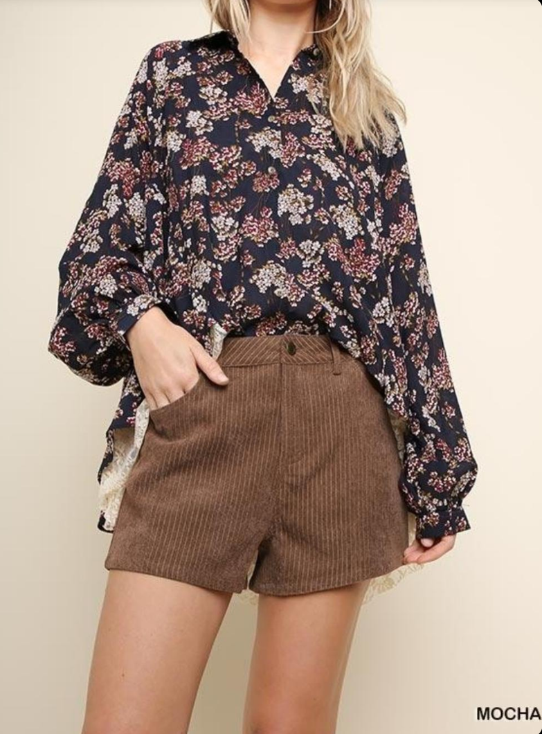 Jess Corduroy High-Waisted in Brown