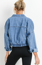 Kelsey Cropped Distressed Denim Jacket