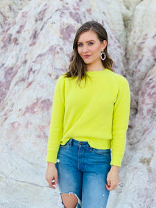 Jessica Sweater in Neon Yellow