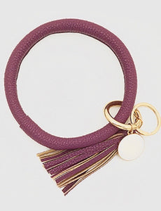 Tassel Keychain Bracelet in Purple