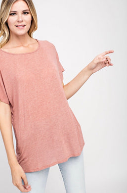 Madison Tee in Mauve