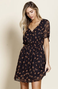 Karla Dot & Floral Patterned Mini Dress