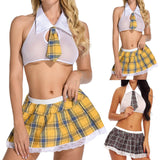 Uniform LatticeTie + Mini Skirt Nightwear