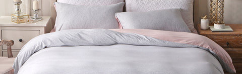 Jersey knit duvet cover set