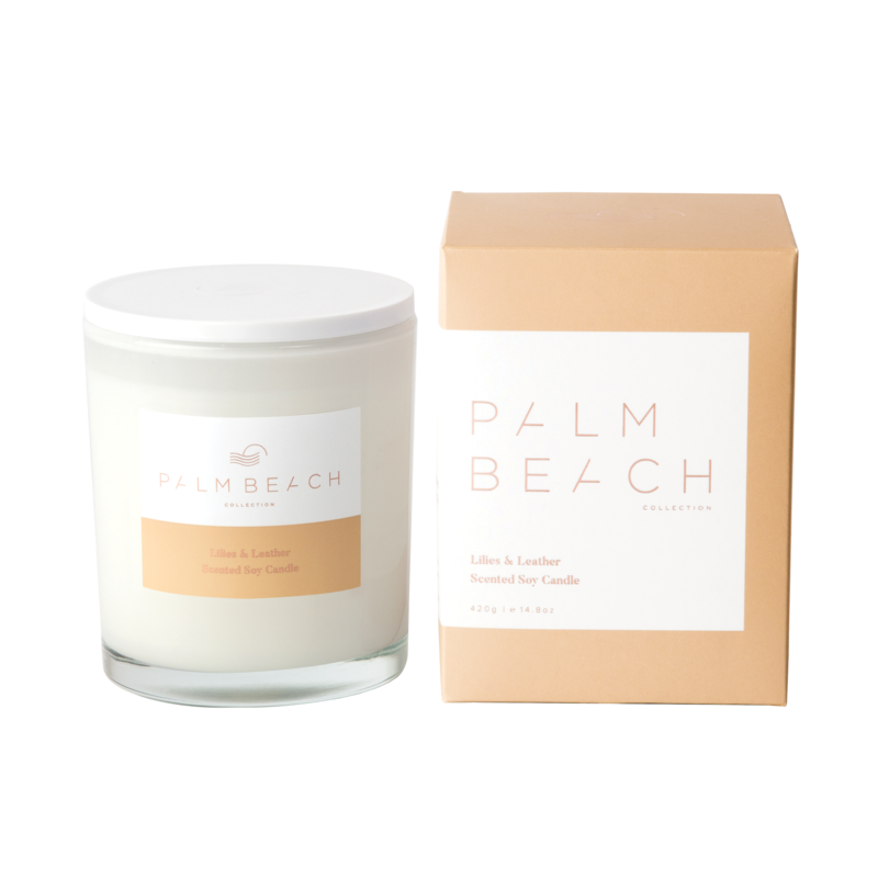 PALM BEACH LILIES & LEATHER STANDARD CANDLE