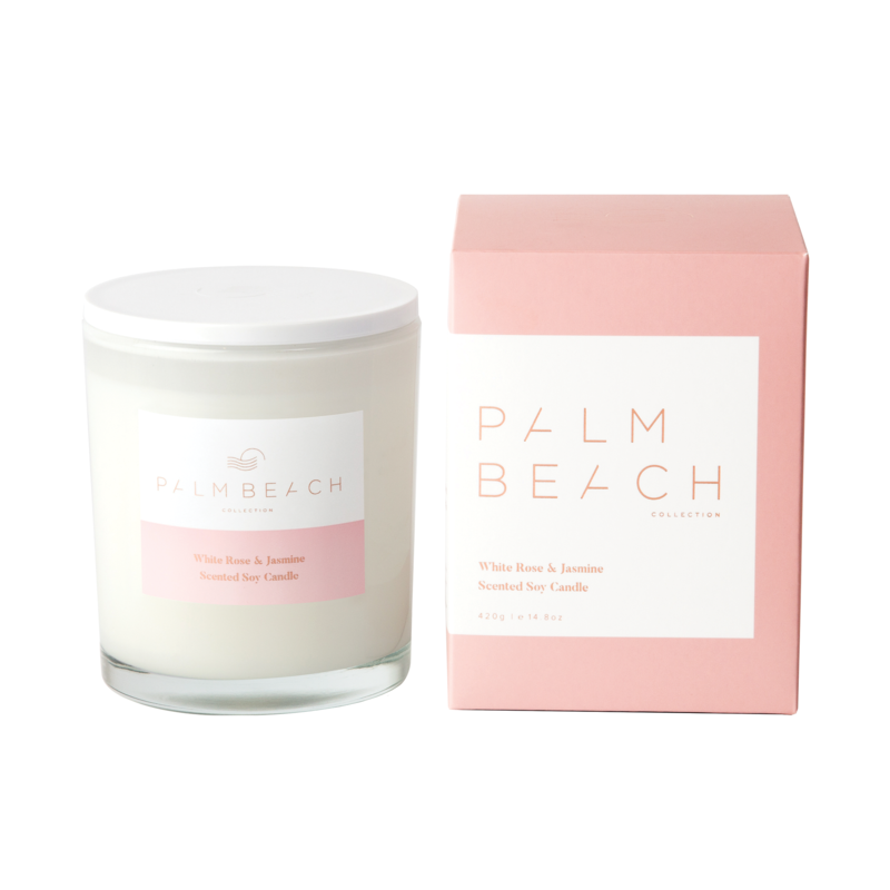 PALM BEACH WHITE ROSE & JASMINE STANDARD CANDLE