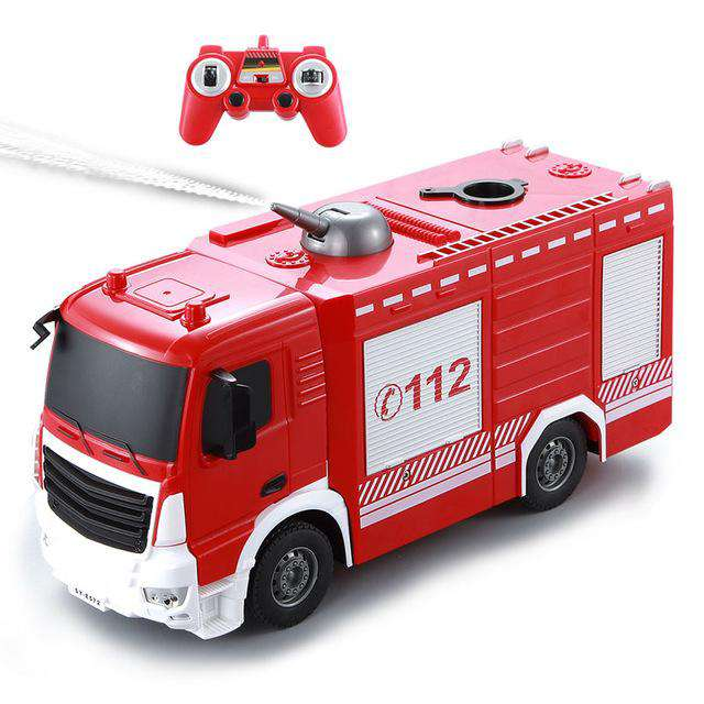 1:26 Scale Remote Control Spray Fire Truck 2.4G Radio Remote Control Car Kids Toys for Children RC Truck, TR0305, www.suppashoppa.co.uk