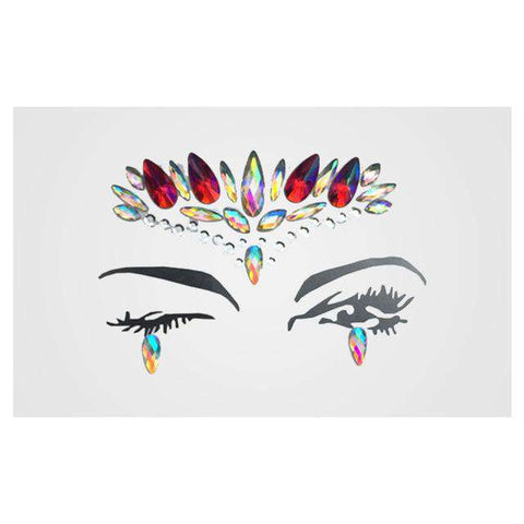 1 Sheet Handpicked Bohemia Tribal Style 3D Crystal Sticker Face And Eye Jewels Party DIY Decor Temporary Tattoo Sticker, 3, www.suppashoppa.co.uk