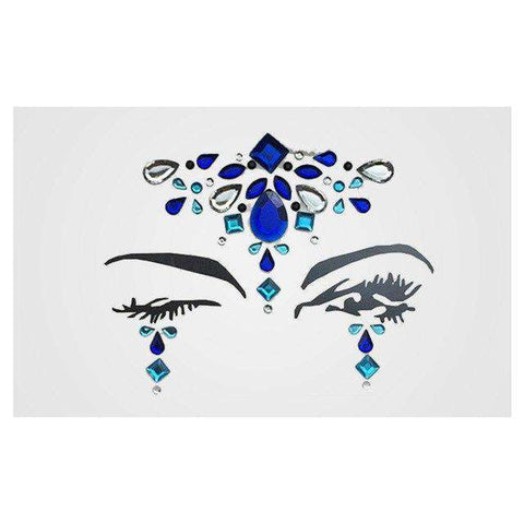 1 Sheet Handpicked Bohemia Tribal Style 3D Crystal Sticker Face And Eye Jewels Party DIY Decor Temporary Tattoo Sticker, 2, www.suppashoppa.co.uk