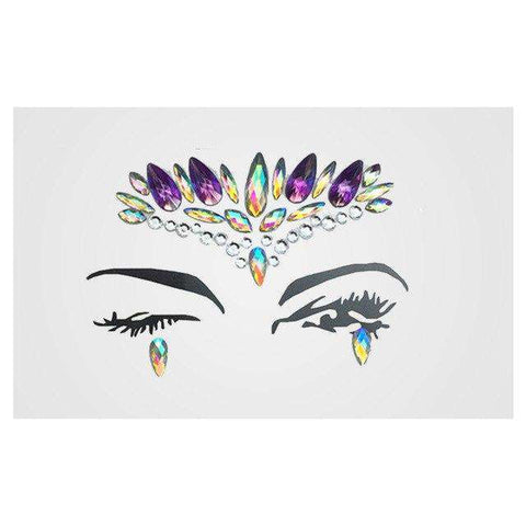 1 Sheet Handpicked Bohemia Tribal Style 3D Crystal Sticker Face And Eye Jewels Party DIY Decor Temporary Tattoo Sticker, 5, www.suppashoppa.co.uk