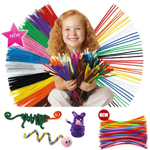 100 Pcs Kids Child Plush Sticks DIY Materials Handmade Christmas Gift Toy Plush Sticks Toys for children kids, , www.suppashoppa.co.uk
