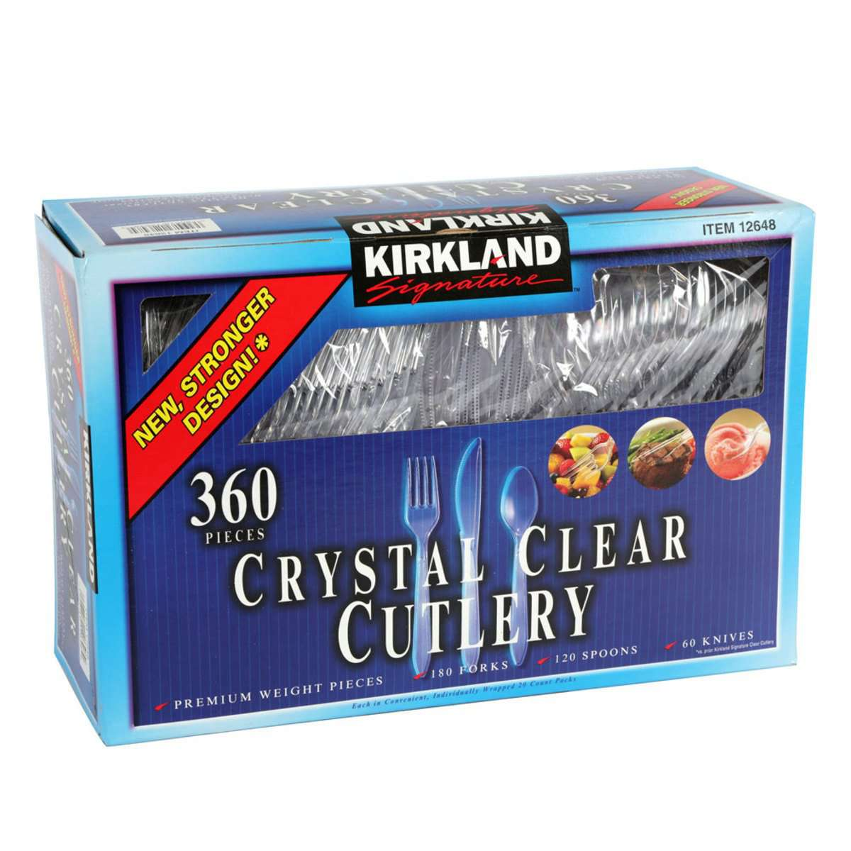 Kirkland Signature Crystal Clear Disposable Cutlery, 360 PiecesKirkland Signature Crystal Clear Disposable Cutlery, 360 Pieces