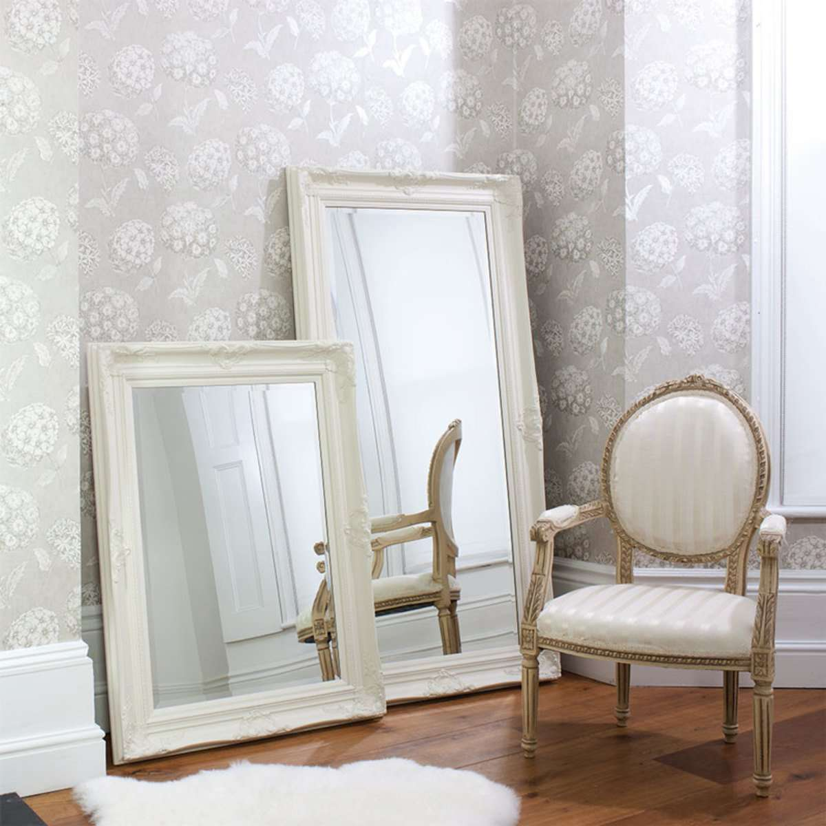 Gallery Harrow Cream Mirror in 2 SizesGallery Harrow Cream Mirror in 2 Sizes