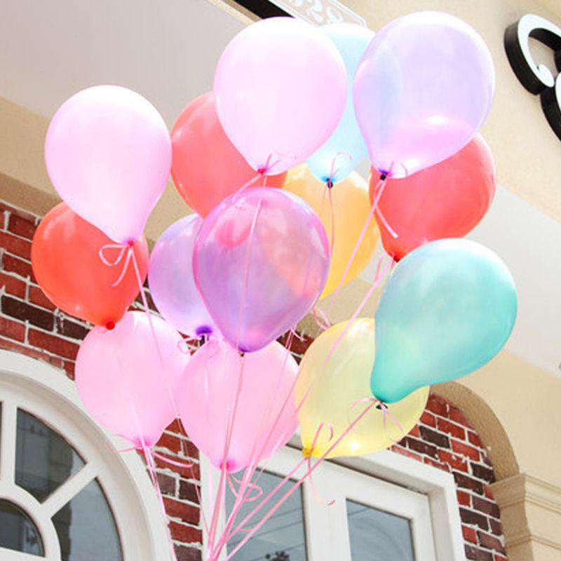 100Pcs 10inch Multicolor Single colors Latex Party Decor Balloons