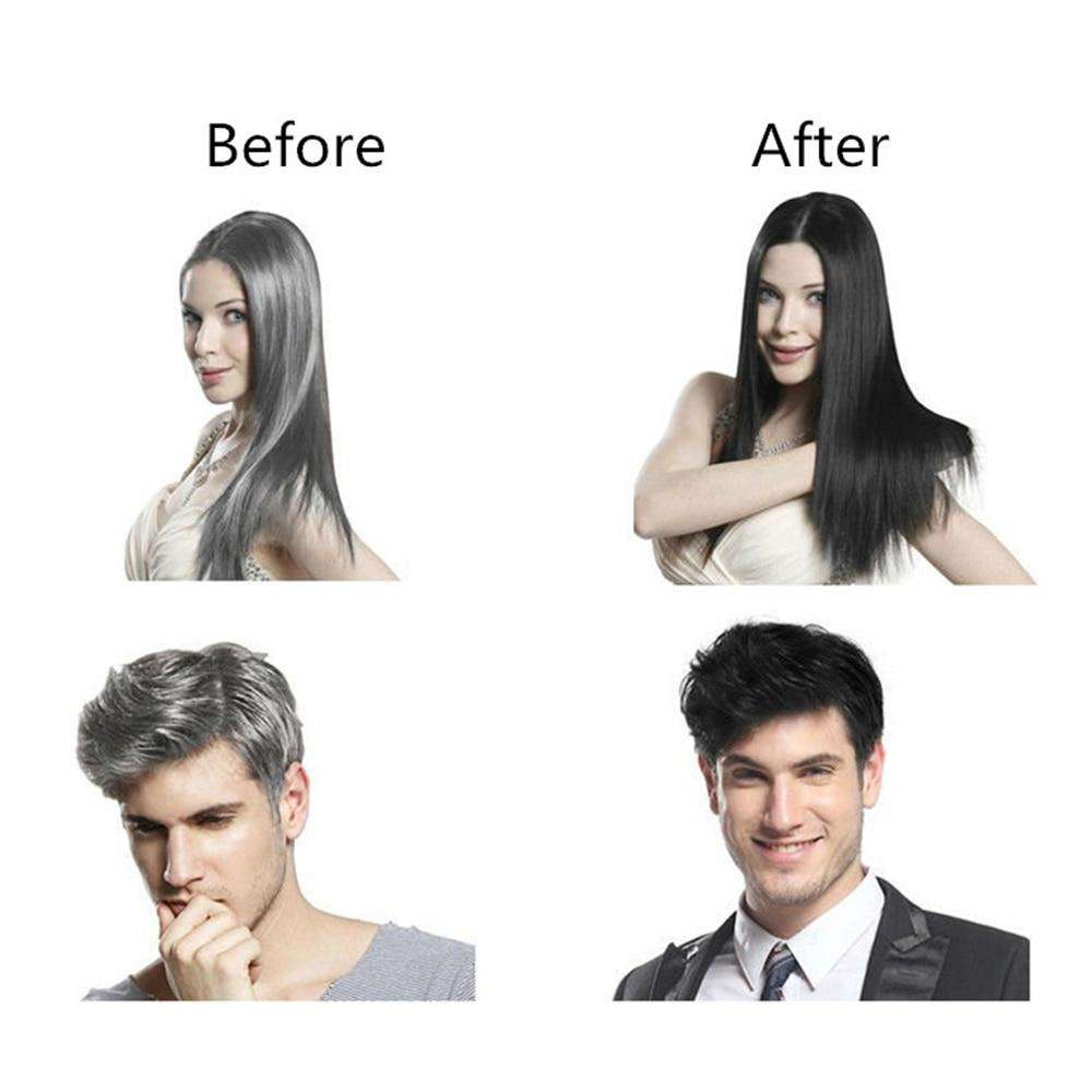 10pcs/lot Black Hair Repair Shampoo Makeup Brand Herb Natural Only 5 Minutes Grey Hair Removal Styling Dye Hair Coloring Tools
