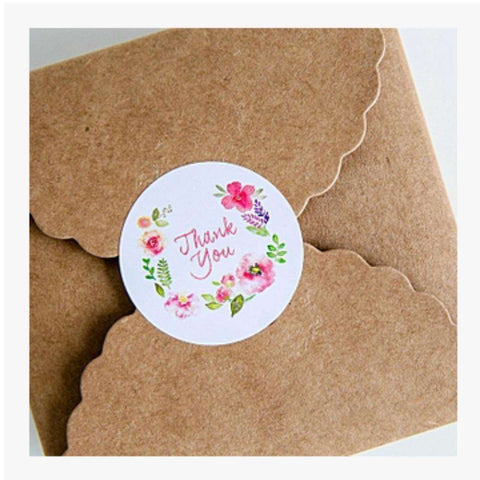 10sheets dia 3.5cm Flower Design Sticker Labels For Creative Paper Stickers Thank You Seals