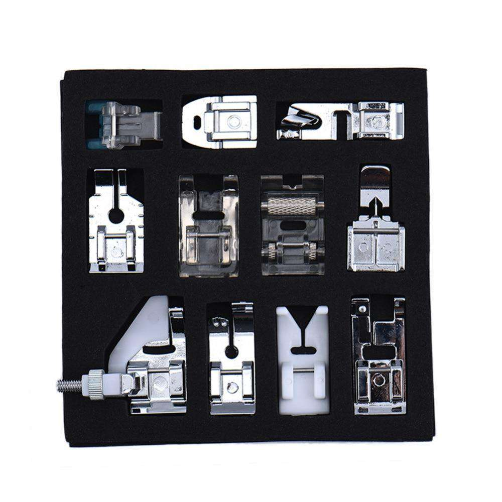 11 pcs/set  Multifunction Sewing Machine Feet Presser Foot Spare Parts Accessories