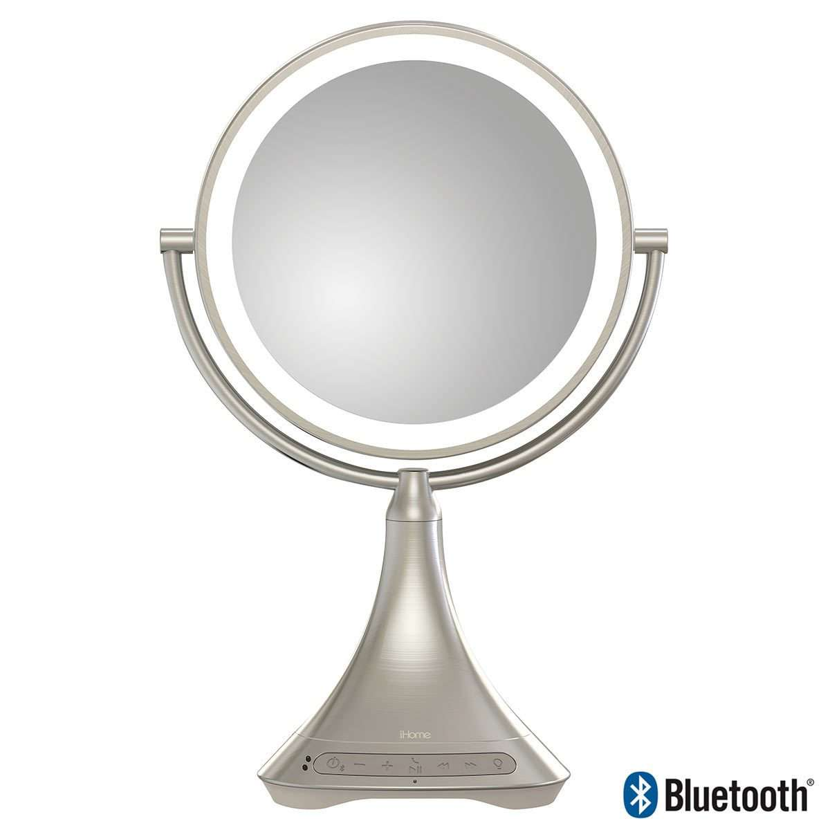 iHome  Double Sided  Vanity Mirror with Bluetooth SpeakersiHome  Double Sided  Vanity Mirror with Bluetooth Speakers