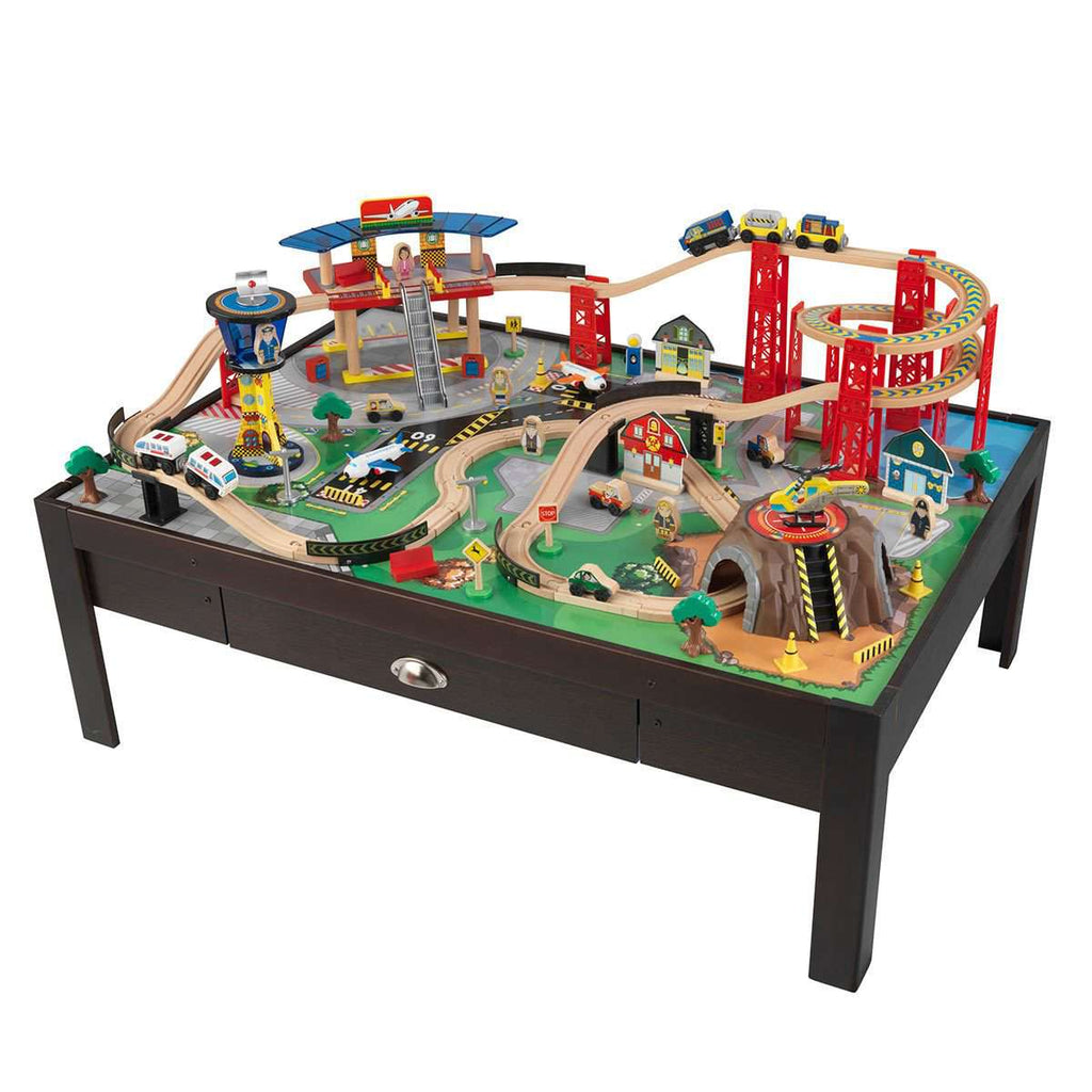 KidKraft Airport Express Train Set and Table in Espresso (3+ Years)KidKraft Airport Express Train Set and Table in Espresso (3+ Years)