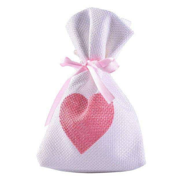 12pc/lot 9.5*14.5 Cm Linen Jute Drawstring Gift Bags Sacks Party Favors Packaging Bag Wedding Candy Gift Bags Party Supplies