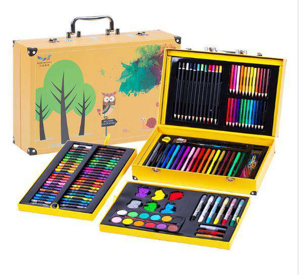 158pcs Children's drawing art set with gift box