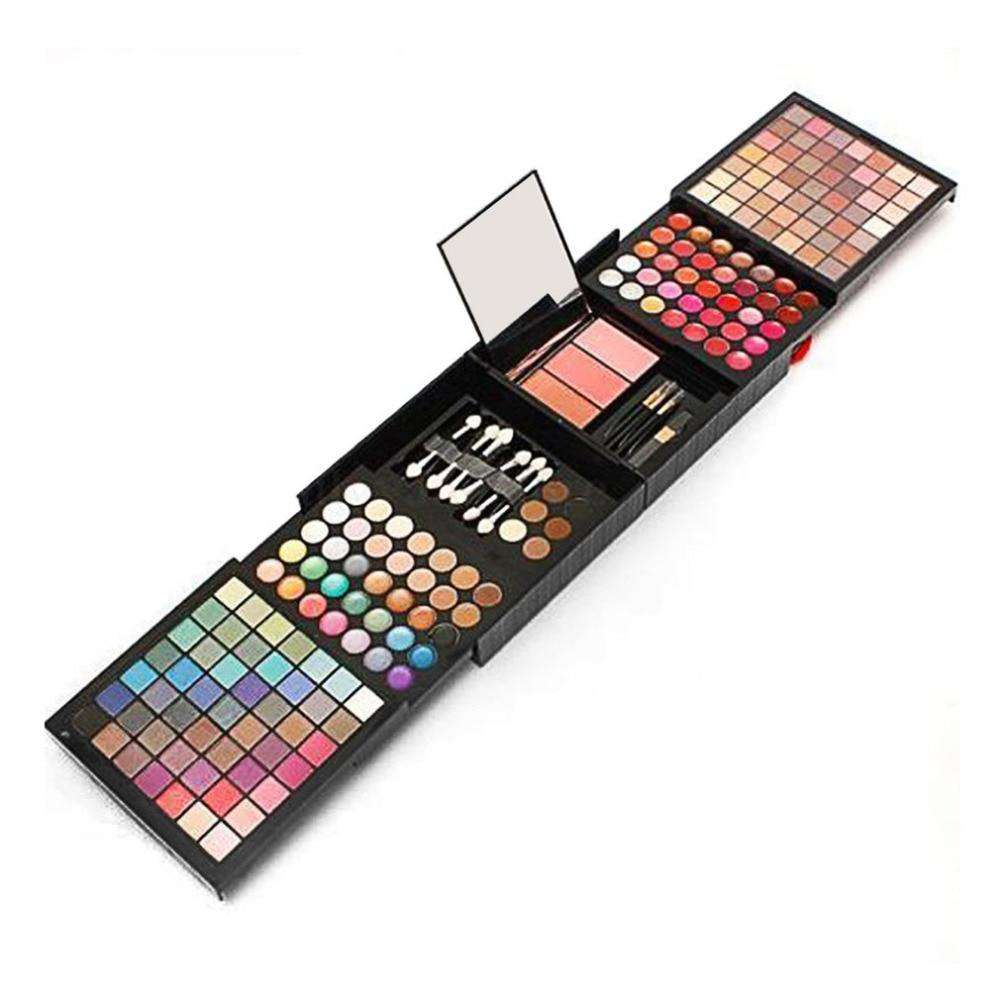 177 Colors Eyeshadow Combination Palette Makeup Set Big Kit Matte Shimmer Beauty Cosmetic Professional Pigmented With Brushes