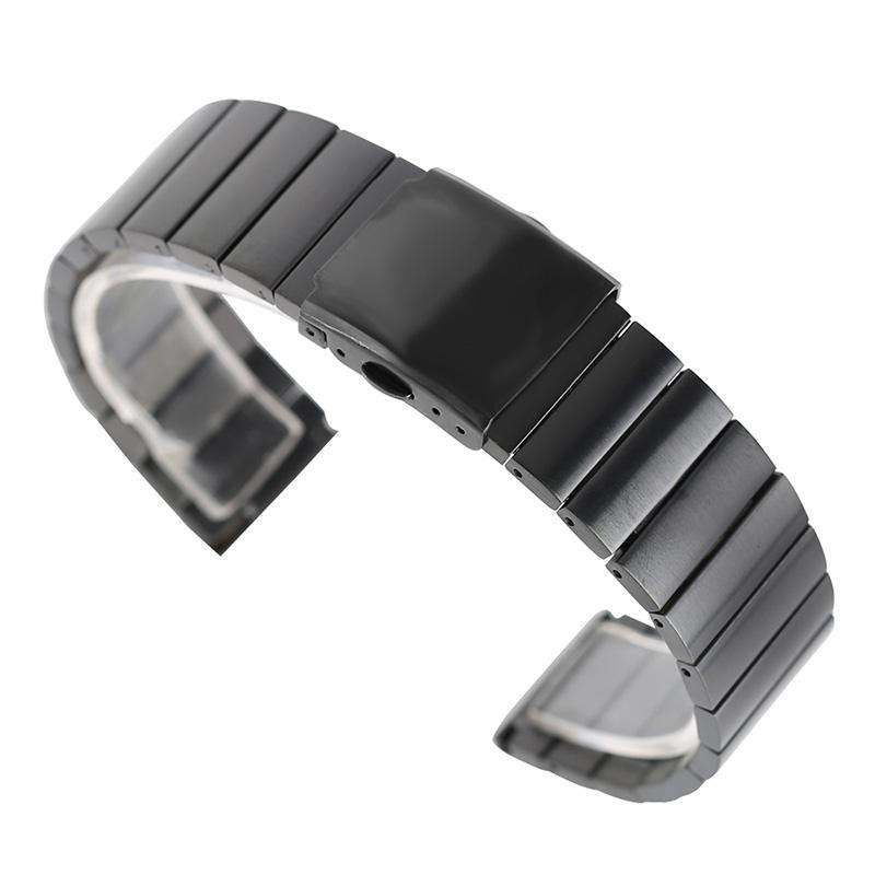 18/20/22/24mm Fashion Stainless Steel Wristwatch Band Adjustable Watch Straps Metal Bangle Solid Link Bracelet +2 Spring Bars