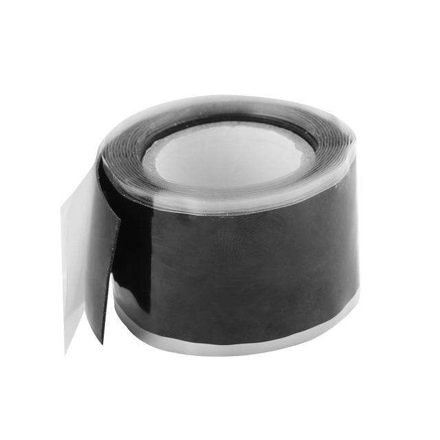 1PC New Multi-purpose Self-adhesive Strong Black Rubber Silicone Repair Waterproof Bonding Tape Rescue Self Fusing Wire, Black, www.suppashoppa.co.uk