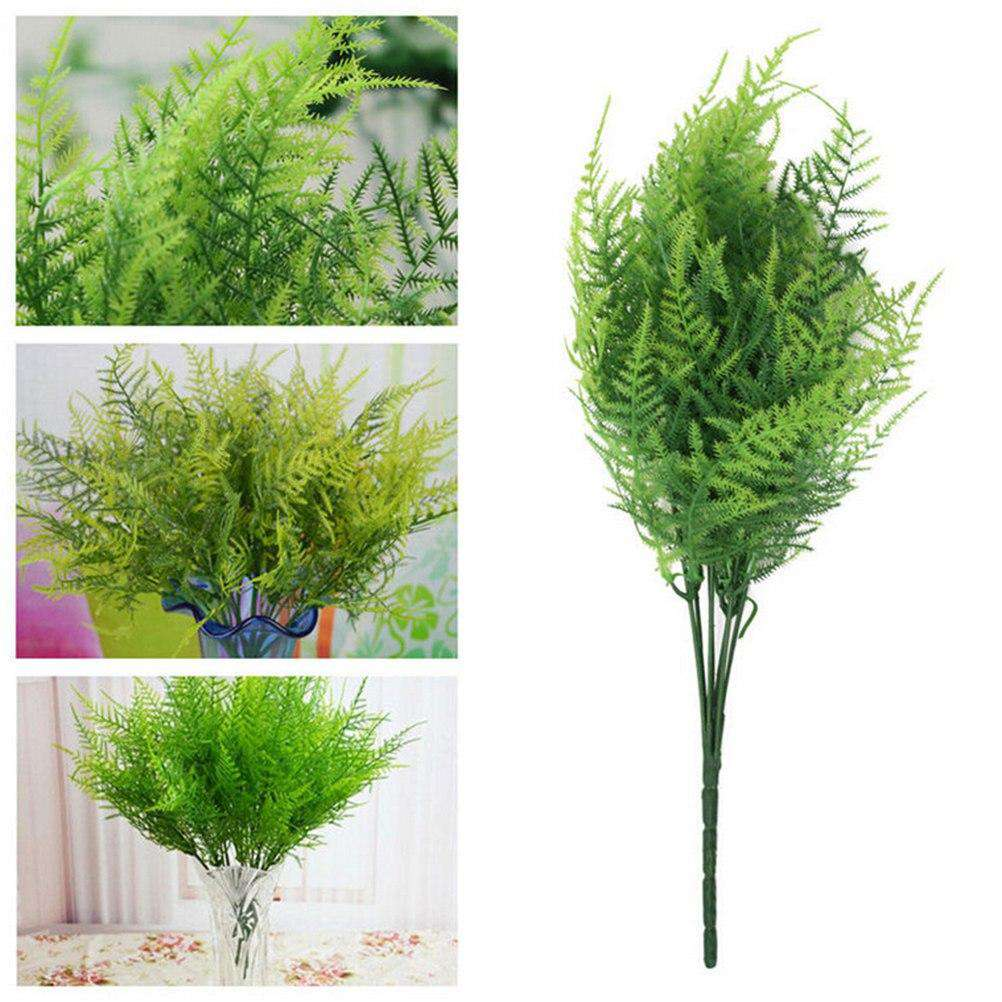 1Pc Plastic Green Plants 7 Stems Artificial Asparagus Fern Grass Bushes Flower For Home Office Deor Decorative Plant, , www.suppashoppa.co.uk