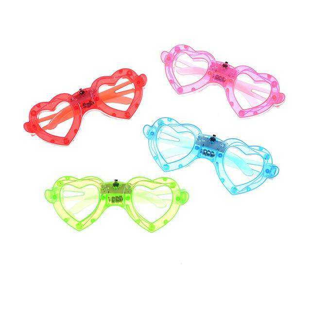1Pc party heart glasses light up flash LED glasses decorative party mask Club Disco Gift, random color, www.suppashoppa.co.uk