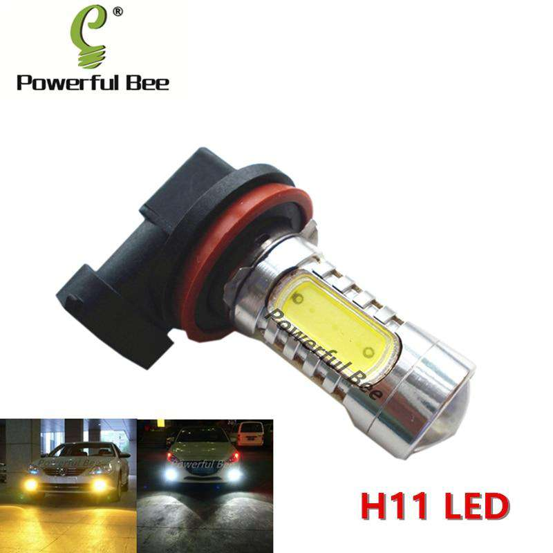 2 x H11 15W power led yellow amber white ice blue fog lamp light