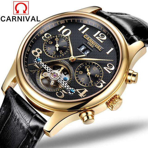 2017 CARNIVAL Fashion Brand Automatic mechanical Sport Watches Reloj Hombre Men Casual Waterproof Wristwatch Relogio Masculino