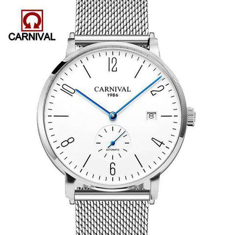 2017 Carnival Mens High Quality Mechanical Wristwatch Watches Men Top Brand Luxury Business steel watch Man Relogio Masculino