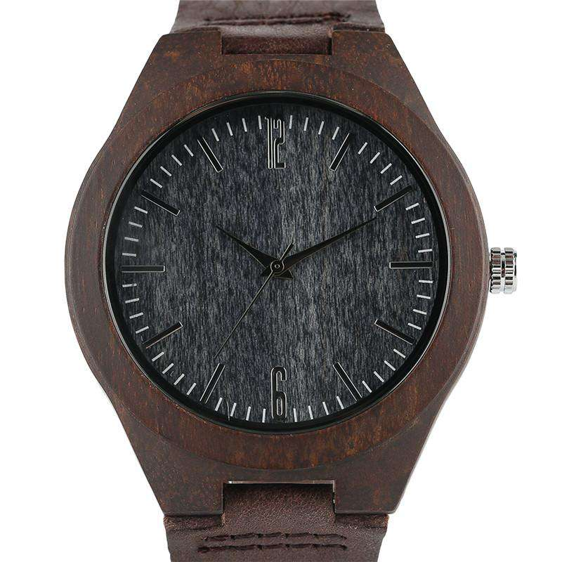 2017 Creative Carbon Black Face Wooden Watches for Men Women Gifts Handmade Bamboo Wristwatches Fashion Sport Quartz Watch Male