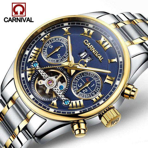 2017 Luxury Brand Carnival Tourbillon watches men mechanical watches sapphire Waterproof 30m fashion men watch hours Relogio, 01, www.suppashoppa.co.uk