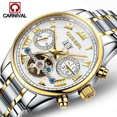 2017 Luxury Brand Carnival Tourbillon watches men mechanical watches sapphire Waterproof 30m fashion men watch hours Relogio, 02, www.suppashoppa.co.uk