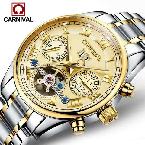 2017 Luxury Brand Carnival Tourbillon watches men mechanical watches sapphire Waterproof 30m fashion men watch hours Relogio, 03, www.suppashoppa.co.uk