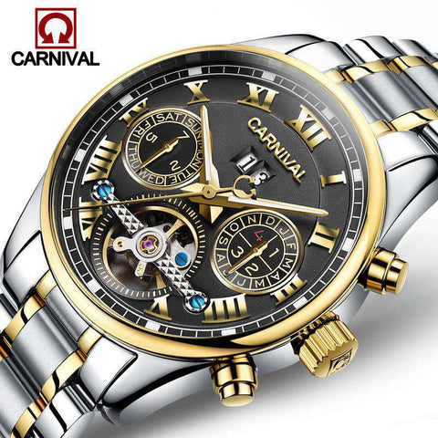 2017 Luxury Brand Carnival Tourbillon watches men mechanical watches sapphire Waterproof 30m fashion men watch hours Relogio, , www.suppashoppa.co.uk