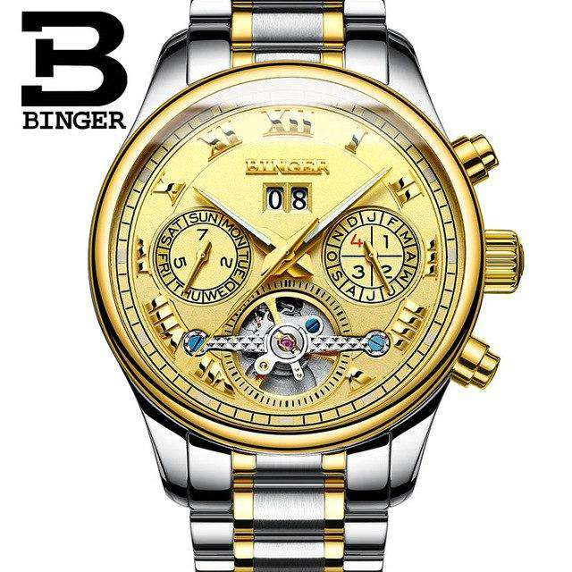 2017 Luxury Mechanical Watch Tourbillon Designer Watches Top Quality Business Watch with Date Day Full Steel Watch for Men, 06, www.suppashoppa.co.uk